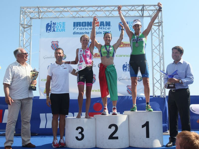 Britta Martin 3rd at Ironman France