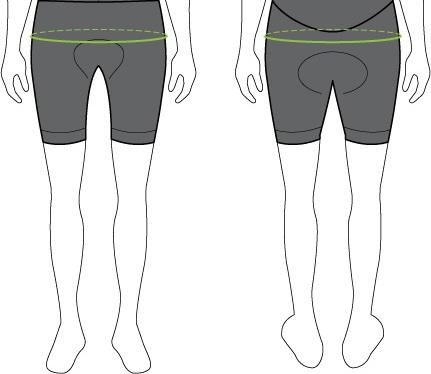 Womens Sizing Chart Shorts