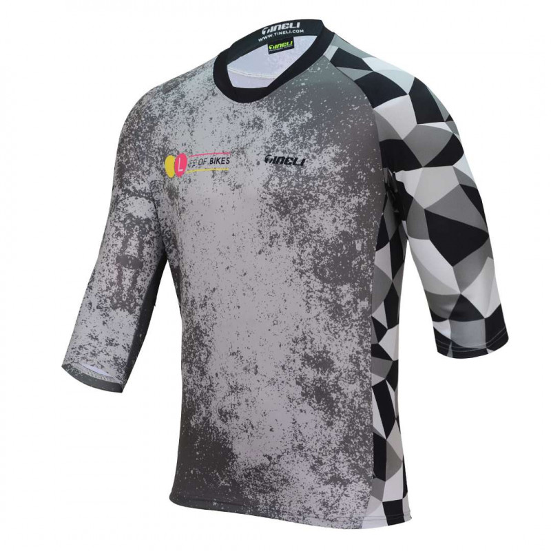LifeofBikes MJM0002 Front WEB 3/4 Sleeve Trail Jersey