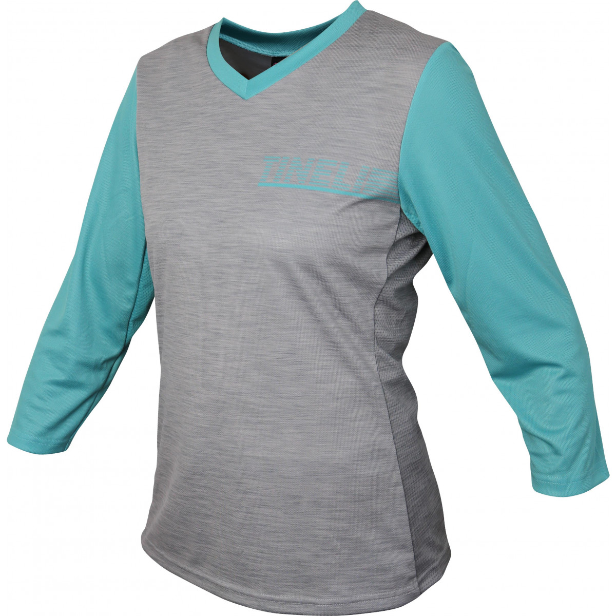Tineli18 trailjersey turquoise Women's Turquoise 3/4 Trail Jersey